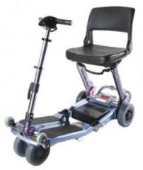 Luggie Travel Scooter With Case in Sunny-Blue, Comes with Free Armrests