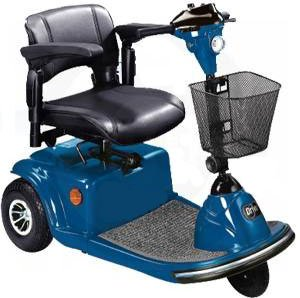 Power Scooter Daytona 3 Wheel Electric Scooter, Blue