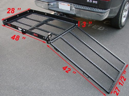 Electric Wheelchair Mobility Scooter Carrier Rack With Ramp