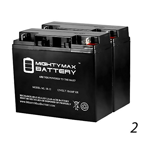 12V 18AH Battery for Drive Medical PHOENIXHD4 Phoenix - 2 Pack - Mighty Max Battery brand product